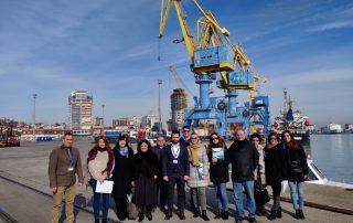 Future 4.0 project team in Durres Port, Tirana, Albania